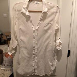 White Tunic/oxford Style shirt